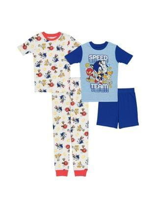 KIDS Little Boys 4 Piece Cotton Pajama Set