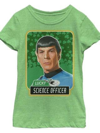 KIDS Big Girls Star Trek - The Original Series Lucky Science Officer Spock Short Sleeve T-shirt