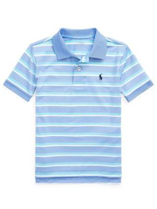 KIDS Little Boys Striped Performance Jersey Polo Shirt