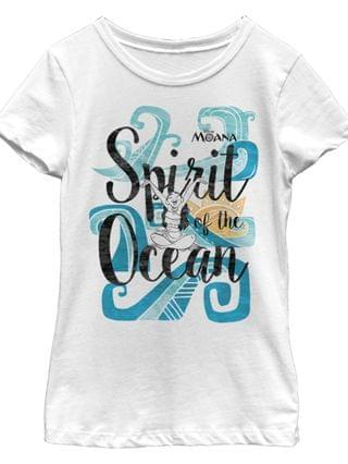KIDS Big Girls Moana Spirit of the Ocean Short Sleeve T-shirt