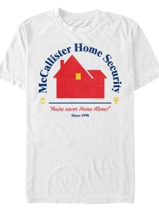 MEN Home Alone Home Security Short Sleeve T-shirt