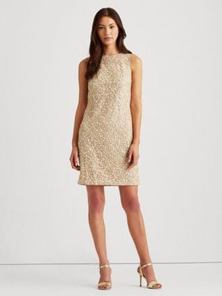 WOMEN Sequined Floral Cocktail Dress