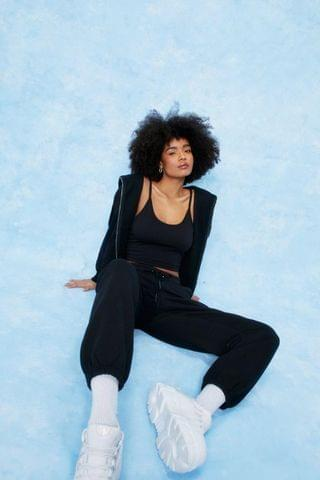 WOMEN Jersey 3 Pc Hoodie and High Waisted Joggers Set