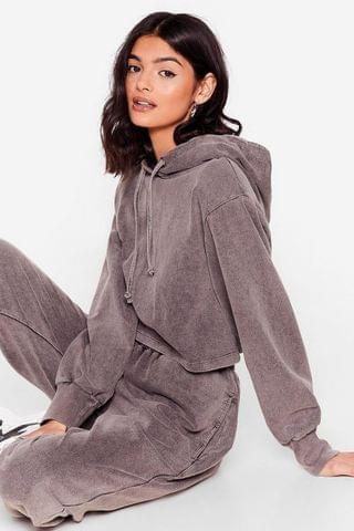 WOMEN Acid Wash and Learn Hoodie and Joggers Set