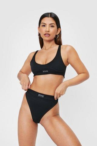 WOMEN Nasty Gal Ribbed Embroidered Lingerie Set