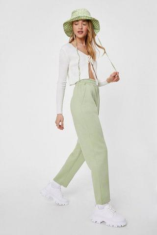 WOMEN Jersey High Waisted Seam Jogger Pants