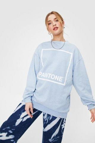 WOMEN Pantone Graphic Crew Neck Sweatshirt