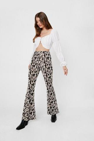WOMEN Ity Cow Printed Flare