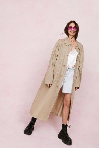 WOMEN Vintage Oversized Longline Trench Coat