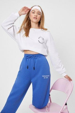 WOMEN The Wellness Club Graphic Embroidered Joggers