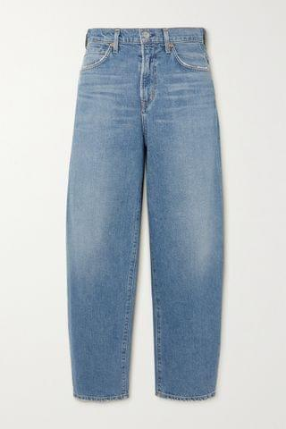 WOMEN CITIZENS OF HUMANITY Calista distressed organic high-rise tapered jeans