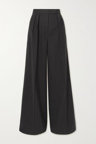 WOMEN MAX MARA Orsola pleated pinstriped stretch-wool wide-leg pants