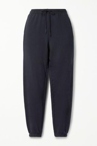 WOMEN VINCE French cotton-terry track pants