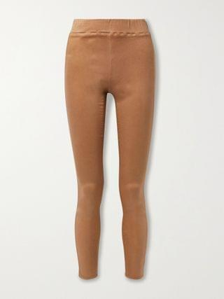 WOMEN L'AGENCE Rochelle coated high-rise skinny jeans