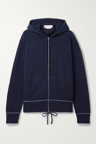 WOMEN MARNI Cashmere and wool-blend hoodie