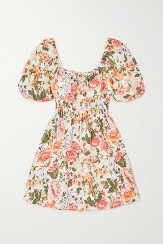 WOMEN FAITHFULL THE BRAND + NET SUSTAIN Nikoleta floral-print linen mini dress