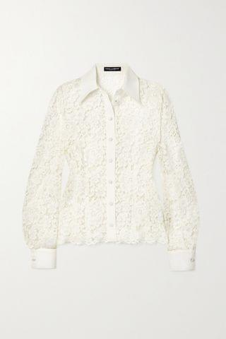 WOMEN DOLCE & GABBANA Corded lace blouse