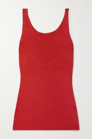 WOMEN PETER DO Maggie two-tone ribbed-knit tank