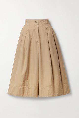 WOMEN MONCLER GENIUS + 1 JW Anderson pleated cotton-twill culottes