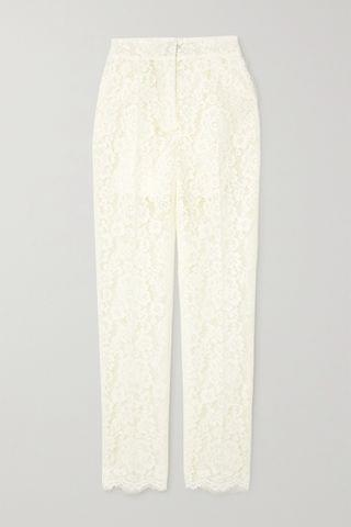 WOMEN DOLCE & GABBANA Cotton-blend corded lace slim-leg pants