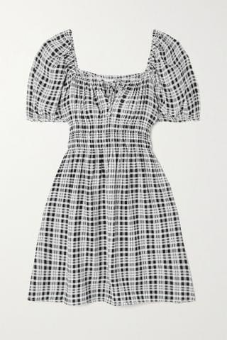 WOMEN FAITHFULL THE BRAND + NET SUSTAIN Francis checked crepe mini dress