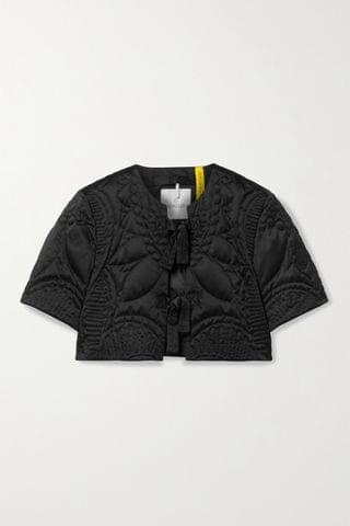 WOMEN MONCLER GENIUS + 1 JW Anderson Amindra cropped quilted down shell jacket