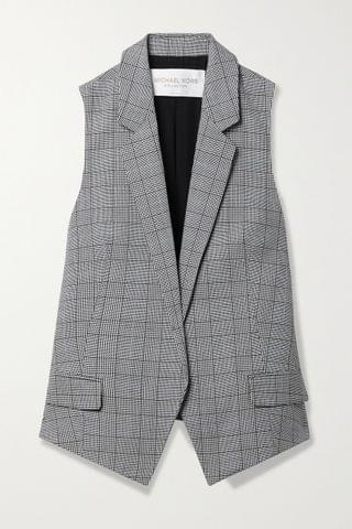 WOMEN MICHAEL KORS COLLECTION Antibes checked wool vest