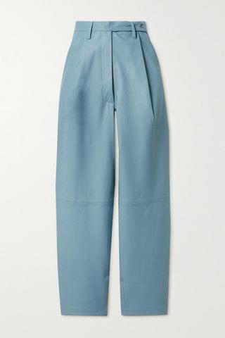 WOMEN REMAIN BIRGER CHRISTENSEN Cleo pleated leather tapered pants