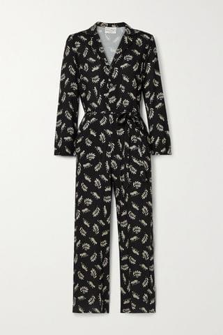 WOMEN HVN Gia printed voile jumpsuit
