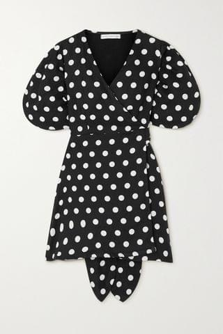 WOMEN FAITHFULL THE BRAND + NET SUSTAIN Godiva polka-dot linen mini wrap dress