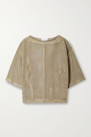 WOMEN MICHAEL KORS COLLECTION Perforated suede top
