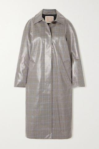 WOMEN ALEXACHUNG Checked coated-twill trench coat
