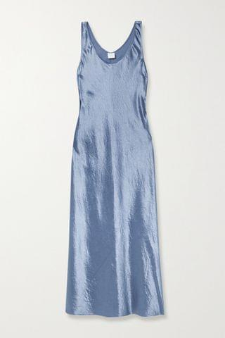 WOMEN MAX MARA + Leisure Talete washed-satin midi dress