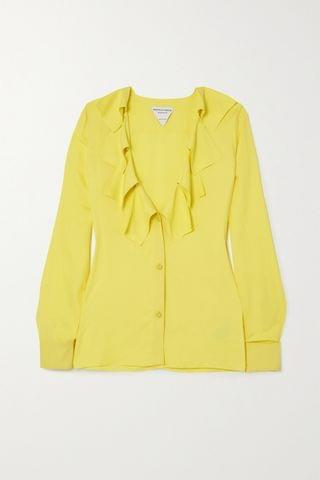 WOMEN BOTTEGA VENETA Ruffled crepe blouse