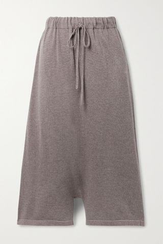 WOMEN LAUREN MANOOGIAN New Playa cropped Pima cotton and alpaca-blend wide-leg pants