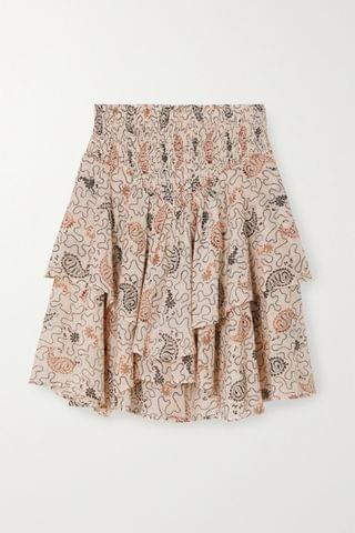 WOMEN ISABEL MARANT TOILE Also tiered shirred printed cotton-voile mini skirt