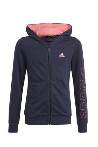 KIDS adidas Linear Logo Zip Through Hoodie