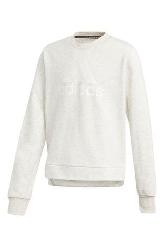 KIDS adidas White Pearl Logo Crew Sweater