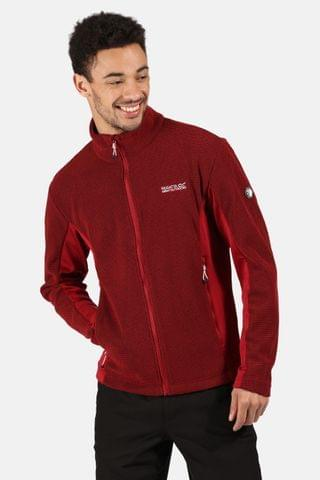 MEN Regatta Red Highton Winter Full Zip Fleece