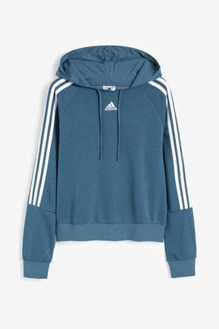 WOMEN adidas 3 Stripe Sport Fashion Pullover Hoody