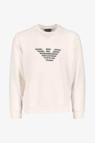 MEN Emporio Armani Eagle Embroidered Sweater