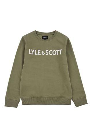 KIDS Lyle & Scott Text LB Crew Neck Sweater