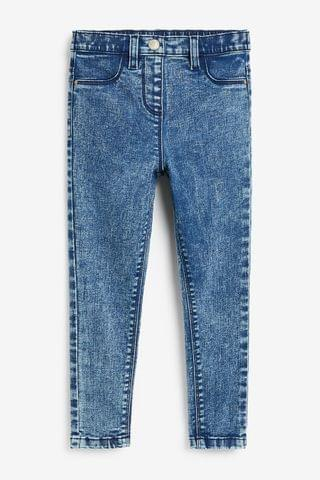 KIDS Denim Bleach Wash Jeggings (3-16yrs)