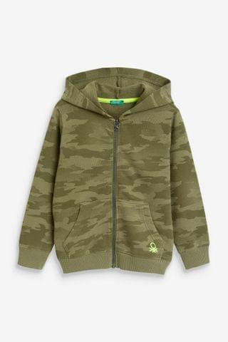 KIDS Benetton Camo Zip Through Hoody