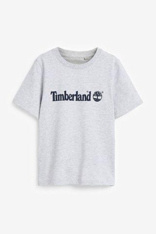 KIDS Timberland Grey Logo T-Shirt