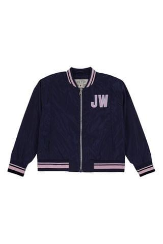 KIDS Jack Wills Girls Blue Wills Bomber Jacket
