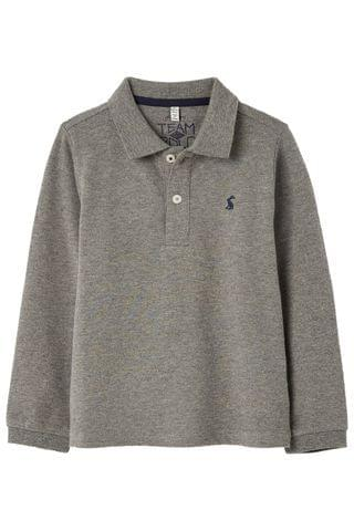 KIDS Joules Grey Woodwell Mini Me Long Sleeve Polo