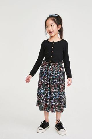 KIDS Black Ribbed Cardigan (3-16yrs)