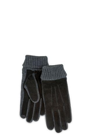 MEN Totes Mens Suede & Knit Glove Smart Touch