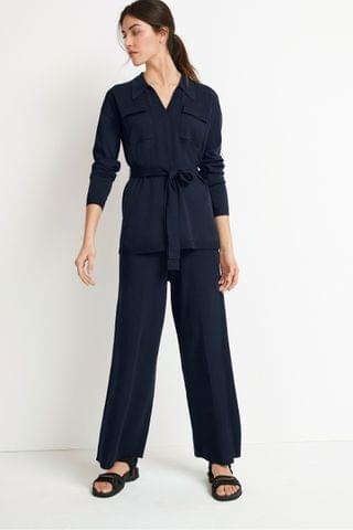 WOMEN Navy Utility Co-Ord Trousers
